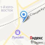 Мотор на карте Астрахани