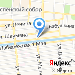 Богатырь на карте Астрахани