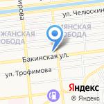 Золотое кольцо на карте Астрахани