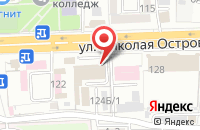 Схема проезда до компании ISpeak в Астрахани