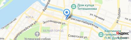 АРТпесок на карте Астрахани