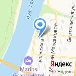 Форас на карте Астрахани