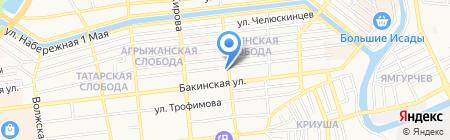 Варвакис на карте Астрахани