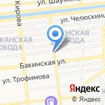 Три А на карте Астрахани