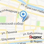 Еленин Сад на карте Астрахани