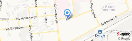 Продуктовый магазин на Кубанской на карте Астрахани
