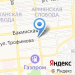 Хазар на карте Астрахани