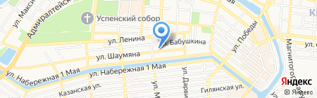 Вест Окна на карте Астрахани