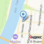 Дама с собачкой на карте Астрахани