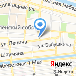 Киоск по продаже лотерейных билетов на карте Астрахани