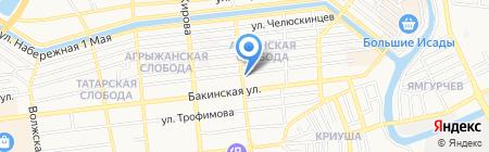 Индустрия Окон на карте Астрахани