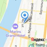 Марш на карте Астрахани