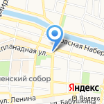 Салютем на карте Астрахани