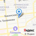 Колор на карте Астрахани