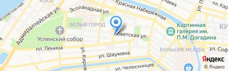 Ситилаб на карте Астрахани
