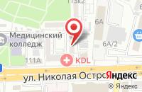 Схема проезда до компании Тополь в Астрахани