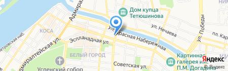 Заправский на карте Астрахани