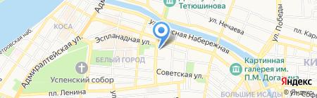 Специальная общеобразовательная школа на карте Астрахани