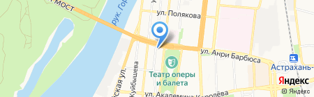 Новый мост на карте Астрахани