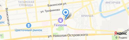 Астраханский ликеро-водочный завод на карте Астрахани