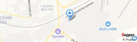 Глория на карте Астрахани