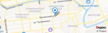 Фирдаус на карте Астрахани