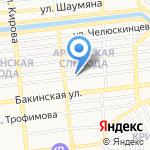 Медиал на карте Астрахани