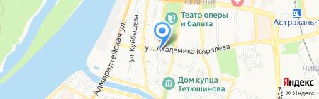 Европрестиж на карте Астрахани