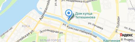 Моряна на карте Астрахани