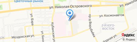 Беркут на карте Астрахани