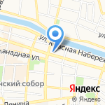 Пункт отбора граждан на военную службу по контракту на карте Астрахани
