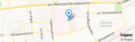 Молния-Курьер на карте Астрахани