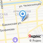 Бакы на карте Астрахани