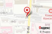 Схема проезда до компании 5 углов в Астрахани