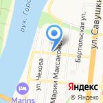 Финист на карте Астрахани