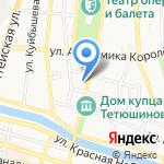 Студия цветного стекла Варвары Чеславской на карте Астрахани