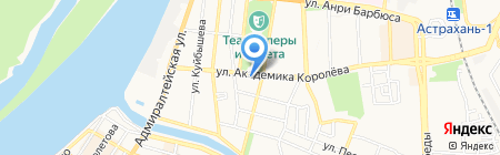 Вечерняя Астрахань на карте Астрахани
