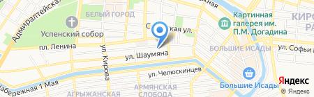Люксор на карте Астрахани