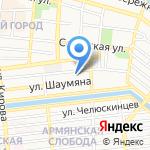 Золотой лотос на карте Астрахани