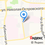 Гаражный кооператив №6 на карте Астрахани