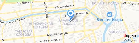 Детский сад №21 на карте Астрахани
