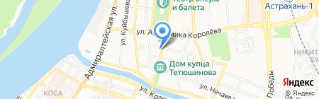 Средняя общеобразовательная школа №6 на карте Астрахани