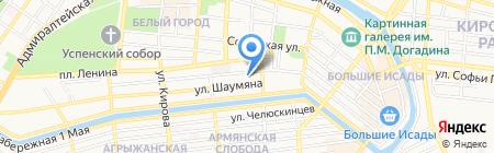 Старый город на карте Астрахани