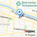 Жар-пышка на карте Астрахани