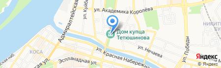 Дом купца Тетюшинова Г.В. на карте Астрахани