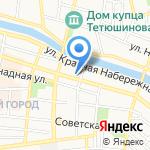 Краеугольный камень на карте Астрахани