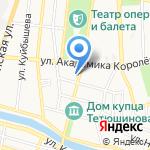 Иваново-Текстиль на карте Астрахани