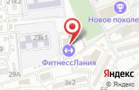 Схема проезда до компании ФитнессЛания в Астрахани