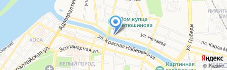Барон Мюнхаузен на карте Астрахани