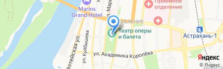 Астраханский государственный театр Оперы и Балета на карте Астрахани